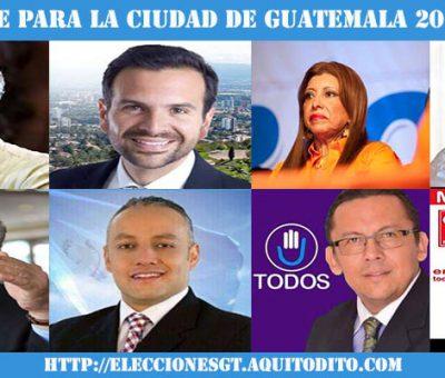 Por quién Votarías para Alcalde de la Ciudad de Guatemala?