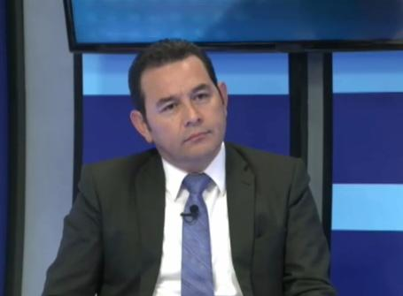 Jimmy Morales en Entrevista