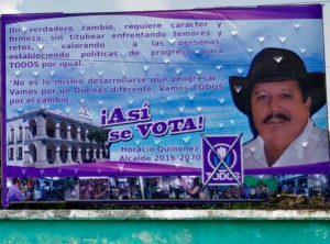 Horacio Quiñonez, candidato a alcalde de San Miguel Dueñas