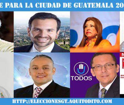ENCUESTA: Por quién Votarías para Alcalde de la Ciudad de Guatemala?
