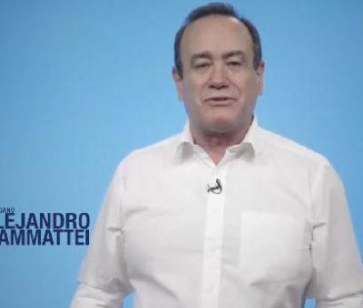 VIDEO: Alejandro Giammattei le Agradece a las 314 mil 999 personas que votaron