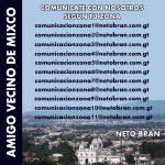 Correos Electronicos para ponerse en contacto con Neto Bran alcalde electo para Mixco