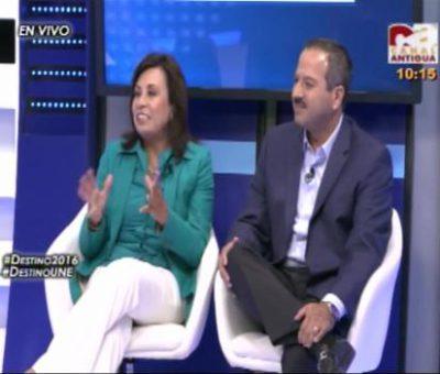 Destino 2016 Sandra Torres y Mario Leal Castillo Entrevistados por Canal Antigua