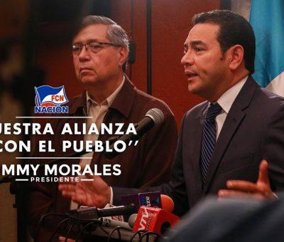Jimmy Morales confia en su Estrategia y No hará alianzas para la Segunda Vuelta