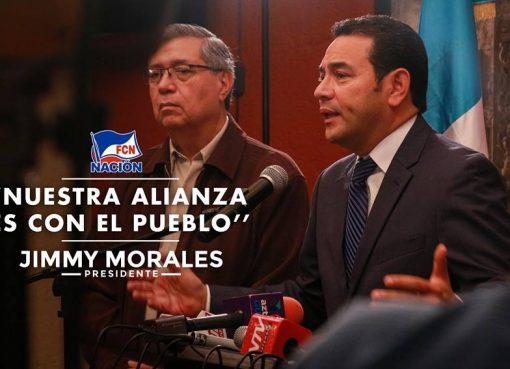Jimmy Morales conferencia de prensa