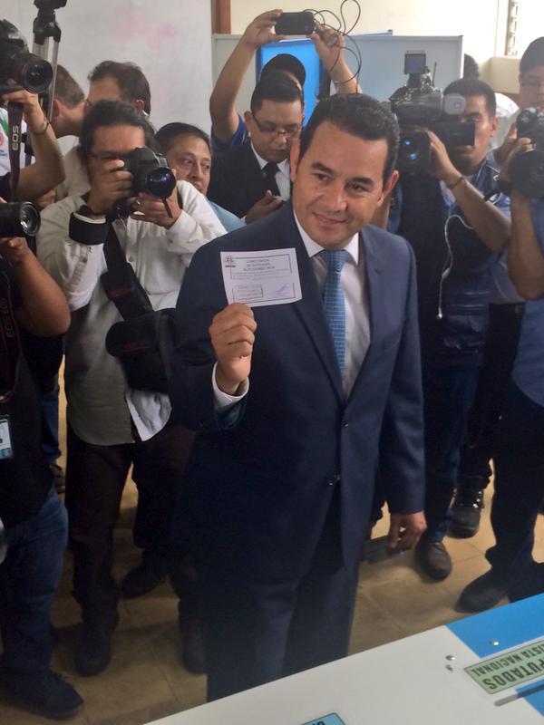 Jimmy Morales Confia en los guatemaltecos