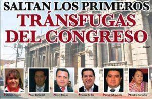 Diputados Tránsfugas luego de dejar al Partido Líder se les acusa de varios delitos