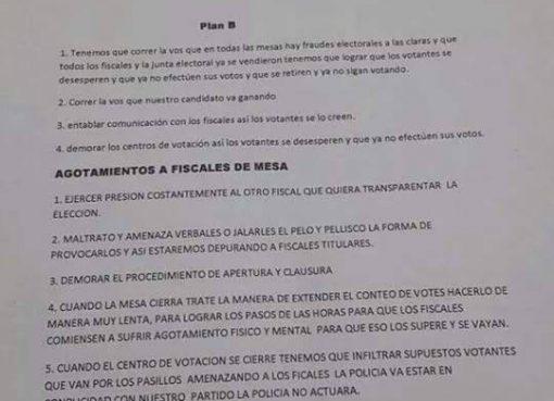 Estas Cartas Circulan en las Redes Sociales Foto: No mas Politicos Corruptos