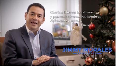 Jimmy Morales les desea Feliz Navidad