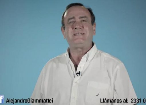 Alejandro Giammattei fuera del Partido Fuerza