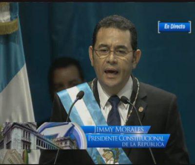 VIDEO: Discurso del Presidente Jimmy Morales