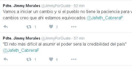 Jimmy Morales mensaje claro