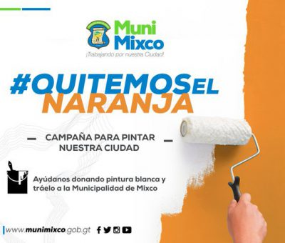 Alcalde Neto Bran pide apoyo para Quitar el Color Naranja de Mixco