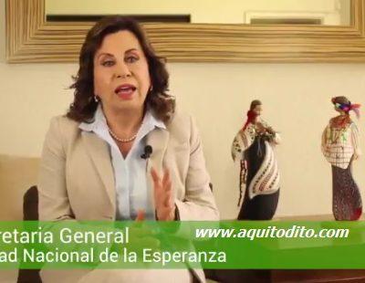 VIDEO: Sandra Torres le dice a Jimmy Morales, ¡Es hora de ponerse a trabajar!