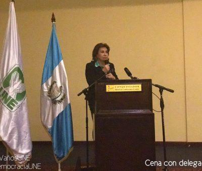 Sandra Torres Reelecta Secretaria General del Partido Unidad Nacional de la Esperanza (UNE)