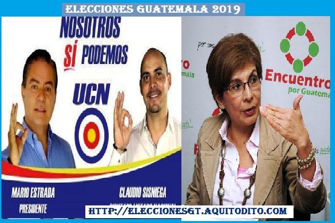 Partido UCN y Encuentro por Guatemala