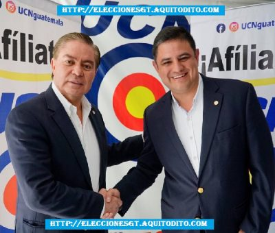 El Partido Unión del Cambio Nacional (UCN) Proclama al Binomio Presidencial Mario Estrada junto a Javier Castillo