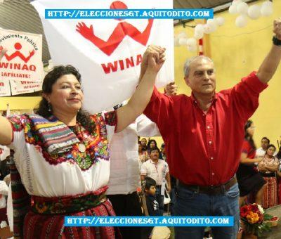 Partido Winaq Proclama a su Binomio Presidencial Manuel Villacorta y Lilian Izabel Hernández