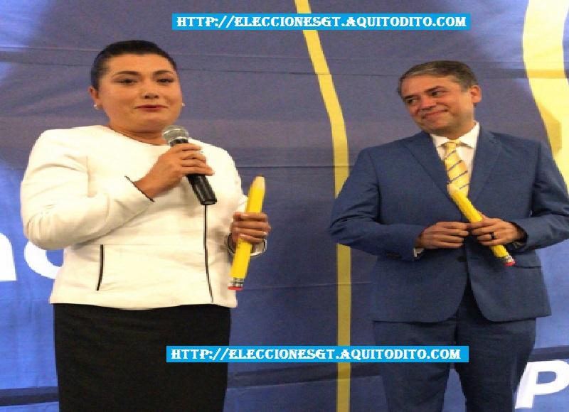 Binomio Presidencial Edwin Escobar y Blanca Odilia Alfaro,