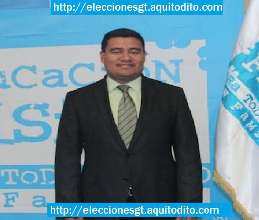 Gonzalo Romero como candidato a alcalde de Mixco