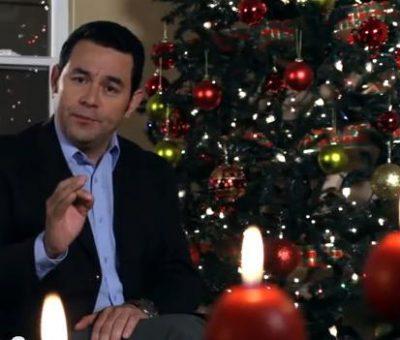 VIDEO Jimmy Morales les desea una Feliz Navidad y Próspero Año Nuevo