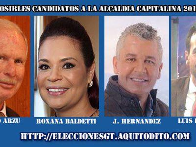 Álvaro Arzú Tendrá Tres Contrincantes Para la Alcaldía Capitalina