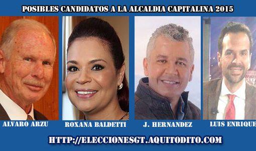 Candidatos a Alcalde