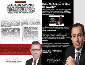 Roberto González y Manuel Baldizón Se enfrentan en Redes Sociales