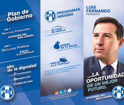 Plan De Gobierno del Partido Republicano Institucional (PRI) y Luis Fernando Pérez
