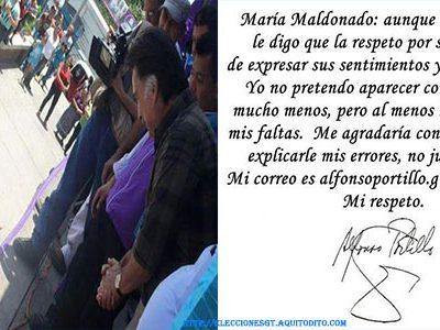 Alfonso Portillo le responde a María Maldonado que lo confrontó en Sololá