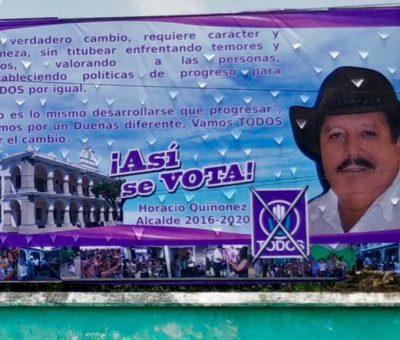 Muere Horacio Quiñonez, candidato a alcalde de San Miguel Dueñas