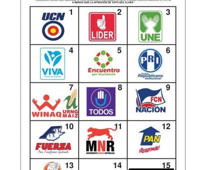 Papeleta Presidencial Partidos UCN, Líder y UNE Ocupan la Primera Línea