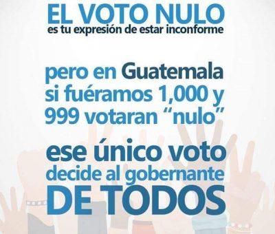 Voto Nulo Porque no hay que Hacerlo?
