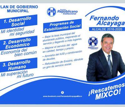 Fernando Alcayaga candidato a la Alcaldía de Mixco con el PRI