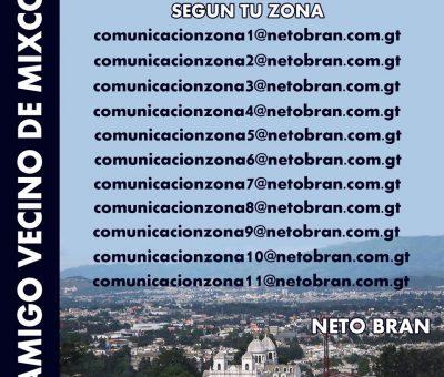 Neto Bran crea cuentas de correo para recibir quejas respecto a su zona