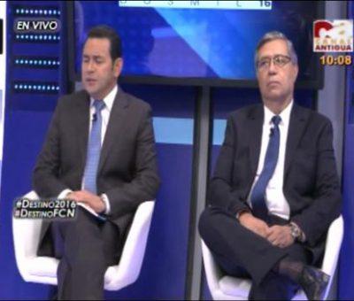 Destino 2016 Jimmy Morales Y Jafeth Cabrera entrevistados por Canal Antigua