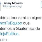 Jimmy Morales comenta en twitter y se vuelve viral