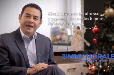 VIDEO: Jimmy Morales les Desea Feliz Navidad