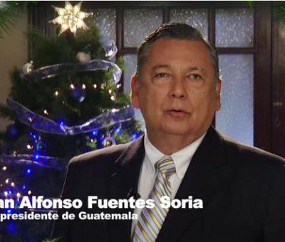 VIDEO: Juan Alfonso Fuentes Soria vicepresidente desea Feliz Navidad