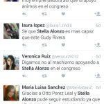 Stella Alonzo defendida en twitter por varios usuarios