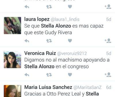 """Stella Alonzo """"No utilizo ni Facebook ni Twitter"""" pero es Tendencia en Guatemala"""