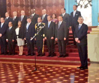 OFICIAL: Gabinete de Gobierno de Jimmy Morales
