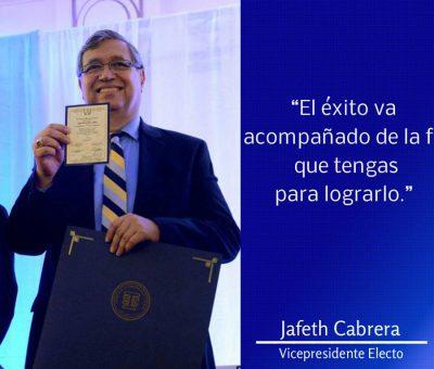 Mensaje de Jafeth Cabrera Vicepresidente de Guatemala