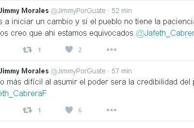 Jimmy Morales manda un mensaje claro a la Población de Guatemala