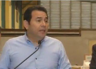 VIDEO: Jimmy Morales aclara sobre el Transfuguismo de diputados