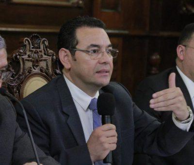 """Presidente Jimmy Morales: Pide que las """"Elecciones 2019 serán libres y democráticas"""""""