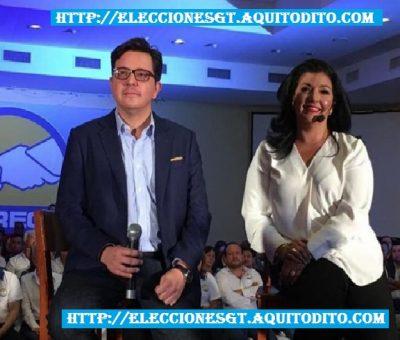 Partido CREO Proclama a su Binomio Presidencial Héctor Estrada y la Empresaria Yara Emmanuella Argueta