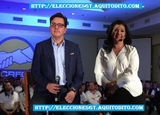 Héctor Estrada y la Empresaria Yara Emmanuella Argueta Binomio Presidencial CREO