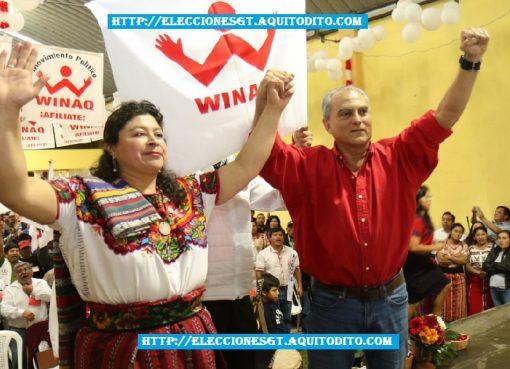 Binomio Presidencial Manuel Villacorta y Lilian Izabel Hernández
