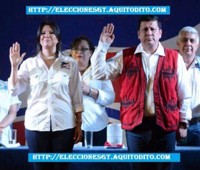 El partido Frente de Convergencia Nacional Proclama a su Binomio Presidencial Estuardo Galdámez y Betty Marroquín Elecciones 2019
